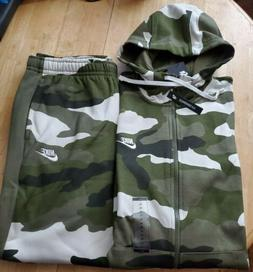 NIKE CAMOUFLAGE   TRACKSUIT - TAPERED PANTS NEW MEN'S SIZE J