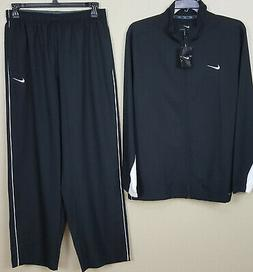 NIKE DRI-FIT WOVEN TRAINING TRACK SUIT JACKET + PANTS BLACK