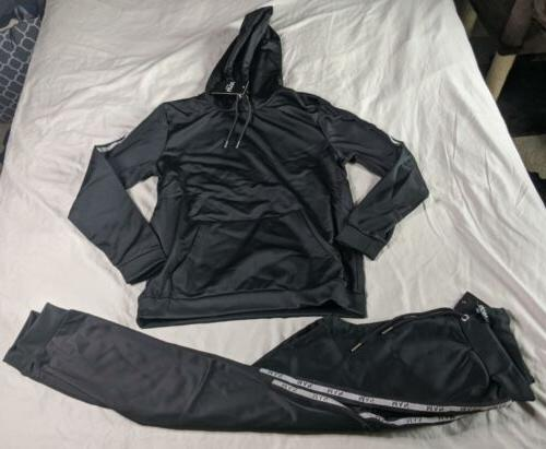 men s active reflective taped tracksuit set