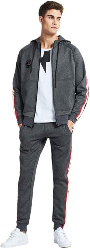 IXIMO Men's Casual Tracksuit Set Hooded Full Zip Running Ath