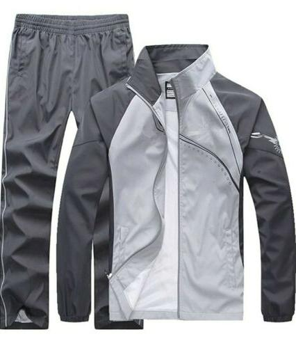 men s fitted exercise tracksuit set 2