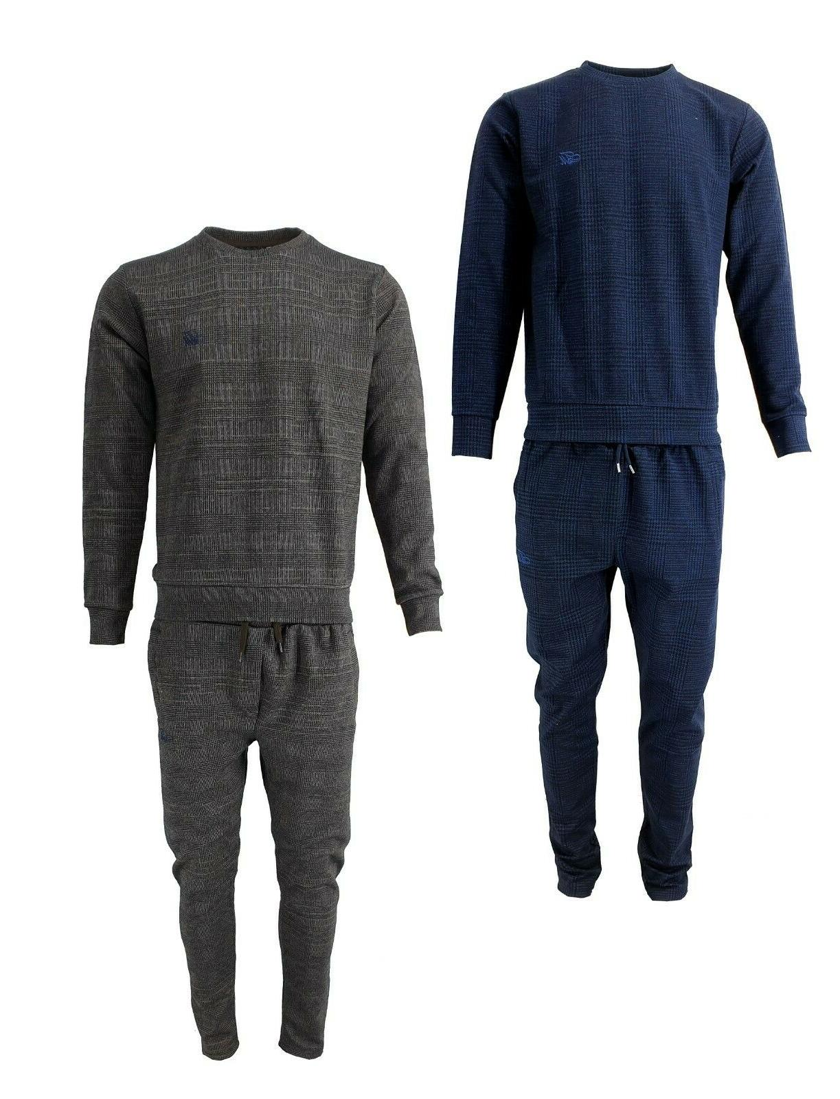 new men premium check tracksuits and matching
