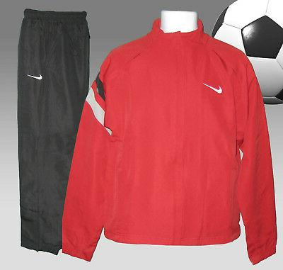 new men s tiempo football tracksuit red
