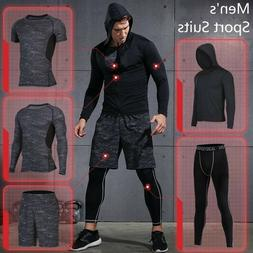 Men Compression Quick Dry Sports Running Training Gym Fitnes