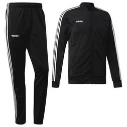 Men's Adidas DV2448 Black 3-Stripe Tracksuit Pant & Jacket S
