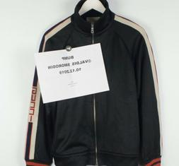 Gucci Men's Technical Jersey Jacket Tracksuit Top Black Size