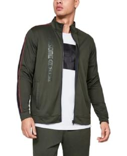 Under Armour Men's Track Suit Set Jacket and Pants, Green, S