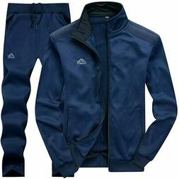 AOTORR Men's Tracksuit Athletic Sports Casual Full Zip Warm
