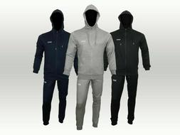 Men Terry Fabric MAN Logo Full Tracksuit Set Hooded Top Jogg