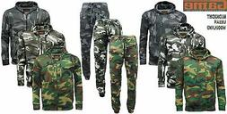 Mens GAME Army Camo Camouflage Hoody Tracksuit Hoodie Zipper