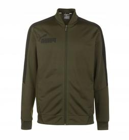 PUMA Mens Forest Green Poly Full Zip Logo Tracksuit Jacket T