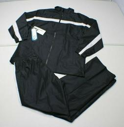 i5 Apparel Men's S BLACK Lined Jacket Pant TRACKSUIT Athle