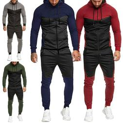 Mens Sports Tracksuit Sets Jogging Hoodie Sweatshirts Coat+C