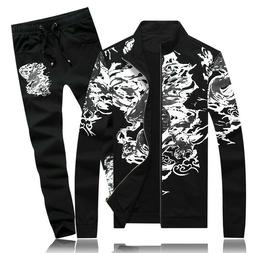 Mens Tracksuit Sports Wear Casual Chinese style Floral Print