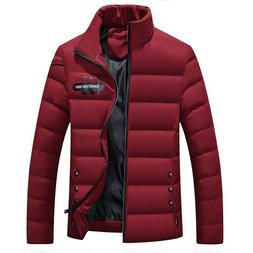 new 2019 Men's Winter Jackets Solid Color Tracksuit Winter F