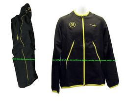 New NIKE Men's T90 Total 90 FOOTBALL Tracksuit Black and Yel