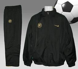 New NIKE Men's T90 Total 90 FOOTBALL Tracksuit Black and Gol