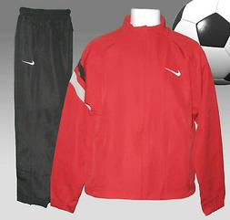 New NIKE Men's Tiempo FOOTBALL Tracksuit Red and Black Small