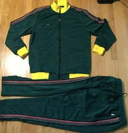 New with tags REASON tracksuit XL jacket pants green yellow