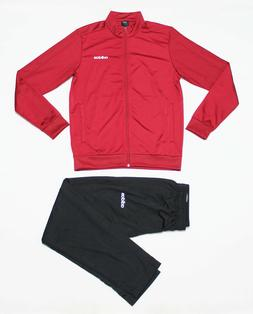 NWT ADIDAS Men's Black Red Maroon Warm-Up Track Suit Set Jac