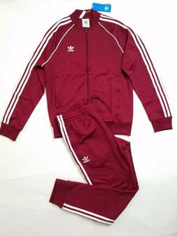 ADIDAS ORIGINALS SST TRACKSUIT BURGUNDY AUTHENTIC MEN'S NEW