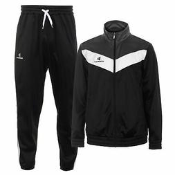 Donnay Poly Tracksuit Mens Gents Full Length Sleeve Ventilat