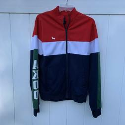 Akoo Spell Out Logo Mens Medium Multicolor Track Suit Jacket