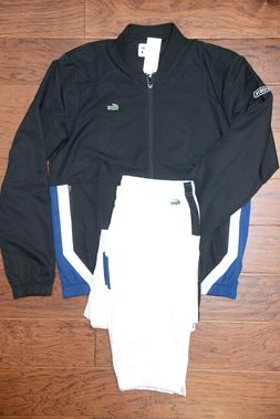 Lacoste Sport WH9512 $250 Men Athletic BLK Track Jacket & Pa
