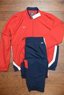Lacoste Sport WH9512 $250 Mens Athletic Red Track Jacket & P