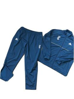 adidas track suit mens x large Polyester With Fleece Lining.